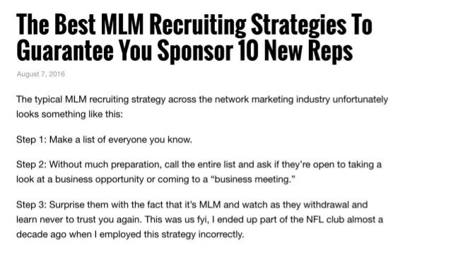 Best Mlm Recruiting Strategies to Guarantee You Sponsor New Reps