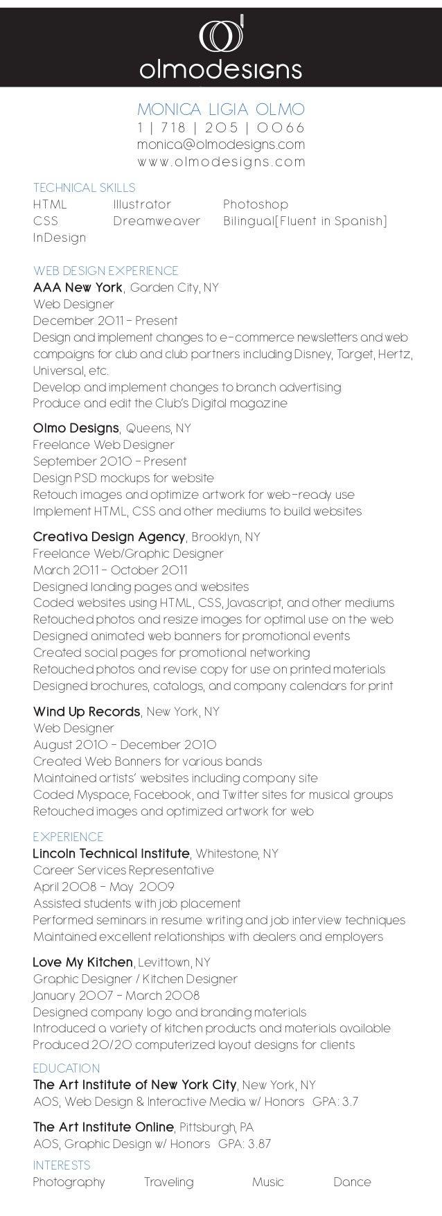 technical skills html illustrator photoshop css dreamweaver bilingualfluent in spanish indesign web design - Ww Ecommerce Ny