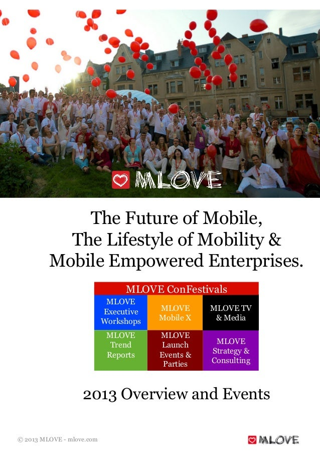 © 2013 MLOVE - mlove.com The Future of Mobile, The Lifestyle of Mobility & Mobile Empowered Enterprises. 2013 Overview and...