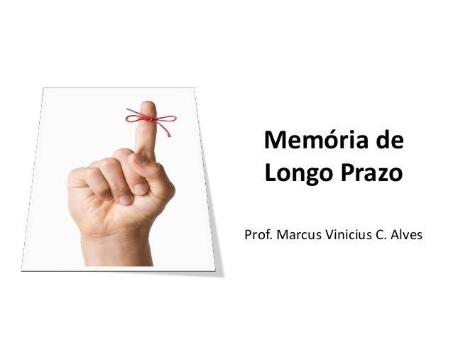 Memória de Longo Prazo Prof. Marcus Vinicius C. Alves