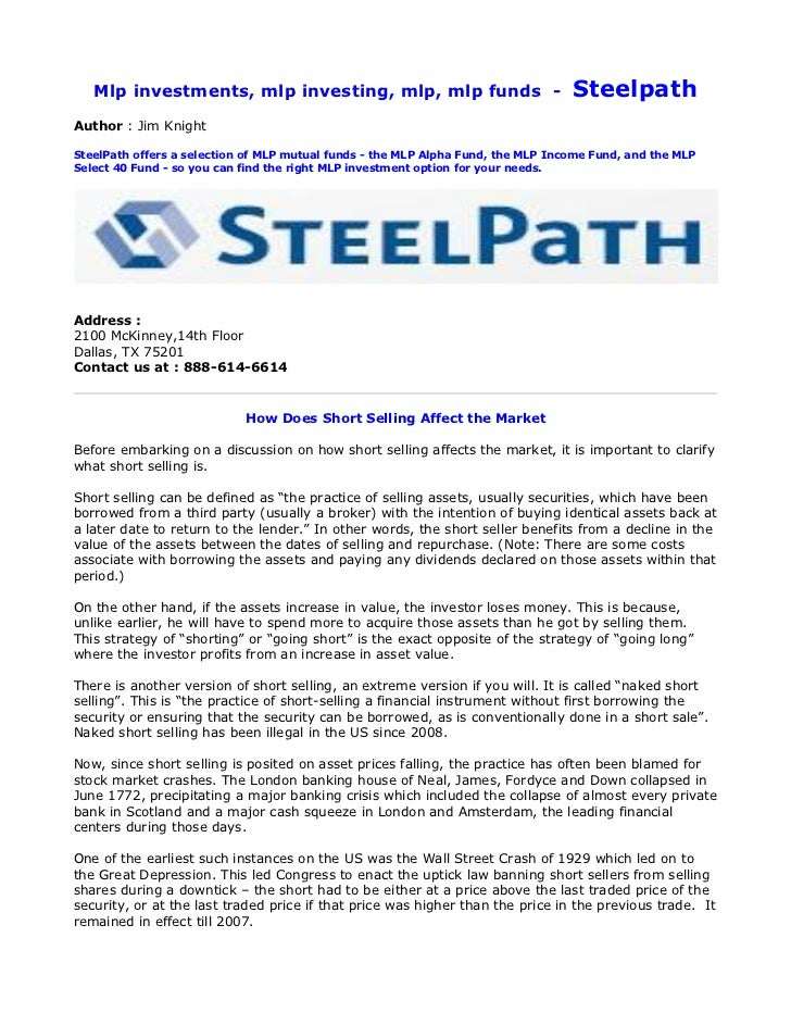 Mlp investments, mlp investing, mlp, mlp funds -                               SteelpathAuthor : Jim KnightSteelPath offer...