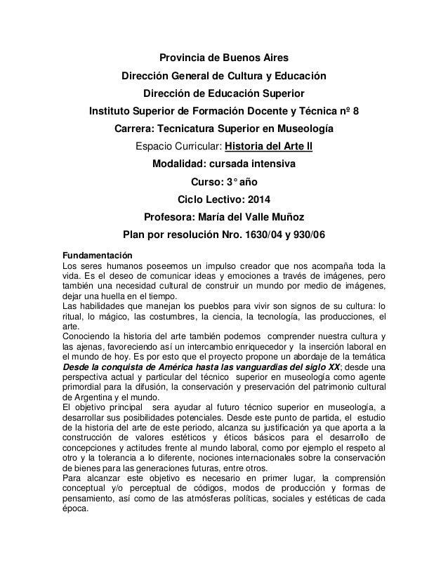 Provincia de Buenos Aires Dirección General de Cultura y Educación Dirección de Educación Superior Instituto Superior de F...