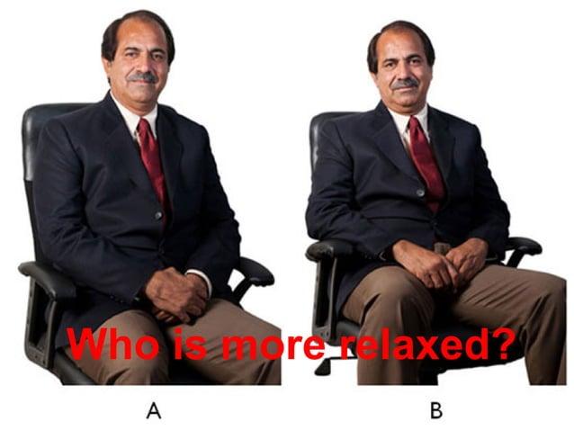 Non-Verbal Communicatons Mohammad Tawfi #WiiiCourses http:////WiiiCoursesWWiiiSpacesWcom Who is more relaxed?