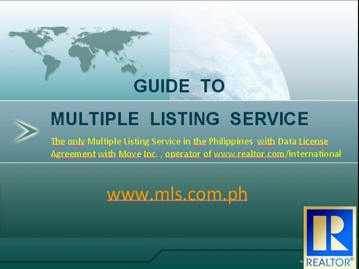 GUIDE TOMULTIPLE LISTING SERVICE