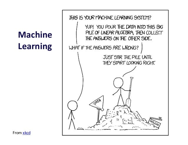 Machine     Learning   From  xkcd
