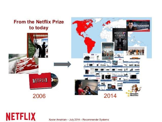 Xavier Amatriain – July 2014 – Recommender Systems From the Netflix Prize to today 2006 2014