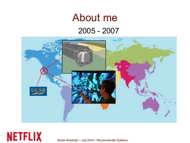 Xavier Amatriain – July 2014 – Recommender Systems About me 2005 - 2007