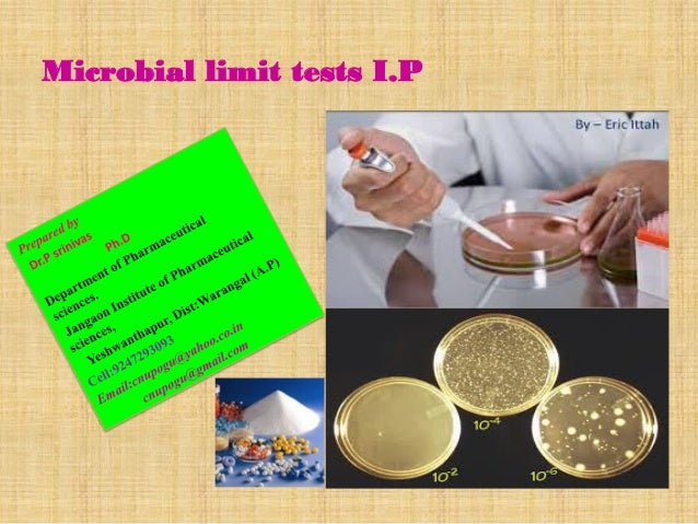 Microbial limit tests I.P