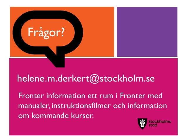 fronter stockholm stad