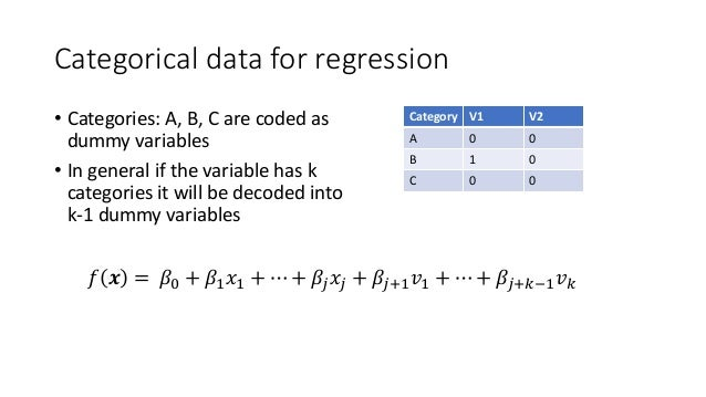 R Categorical Regression Machine Learning with ...