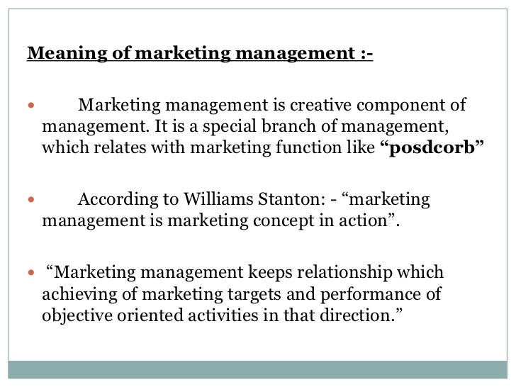 meaning of marketing management Definition of sales and marketing, advertising and marketing, advertising and sales marketing is not advertising marketing is the process.