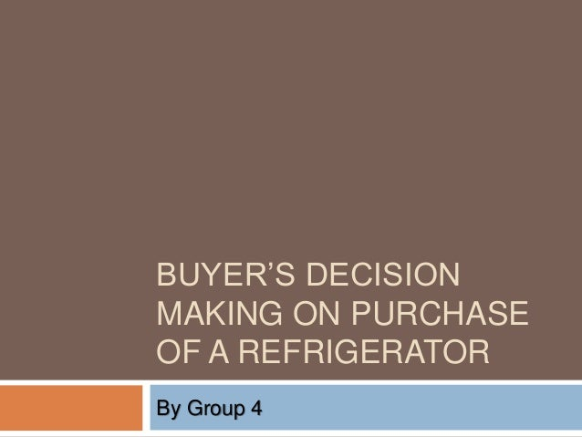 buyer decision making To successfully reach their target market, and improve interactions with customers, marketers need to understand just how much effort and time consumers put into decision-making decision-making is both an art, and a science, which has been studied by experts across generations most of the time, the.