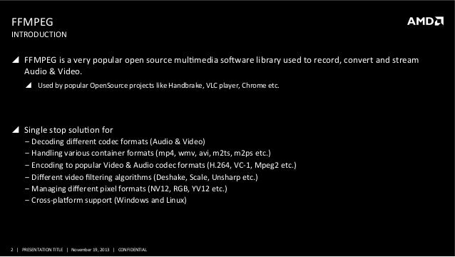 MM-4092, Optimizing FFMPEG and Handbrake Using OpenCL and