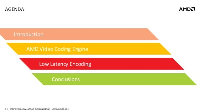 MM-4094, AMD Video Compression Engine: The Route towards Low-Latency …
