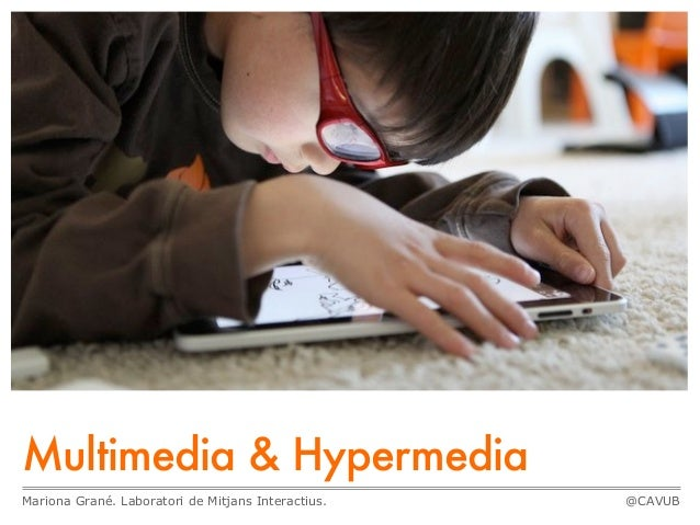 Multimedia & Hypermedia Mariona Grané. Laboratori de Mitjans Interactius. @CAVUB