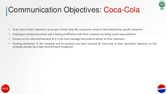 coca cola objectives