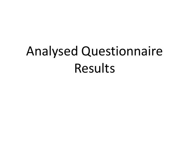 Analysed QuestionnaireResults