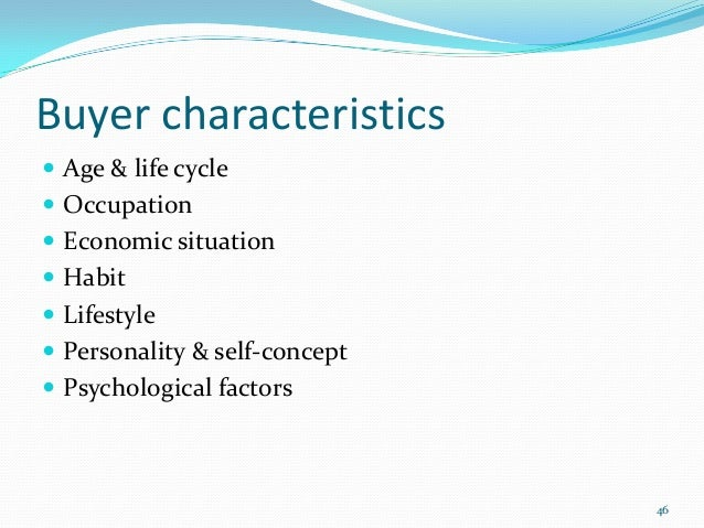 Psychological Factors affecting Consumer Behaviour