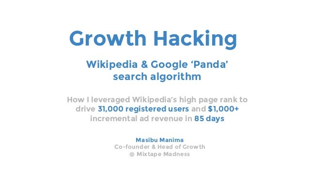 Growth hacking wikipedia google panda search algorithm growth hacking how i leveraged wikipedias high page rank to drive 31000 registered users and 1000 ccuart Image collections
