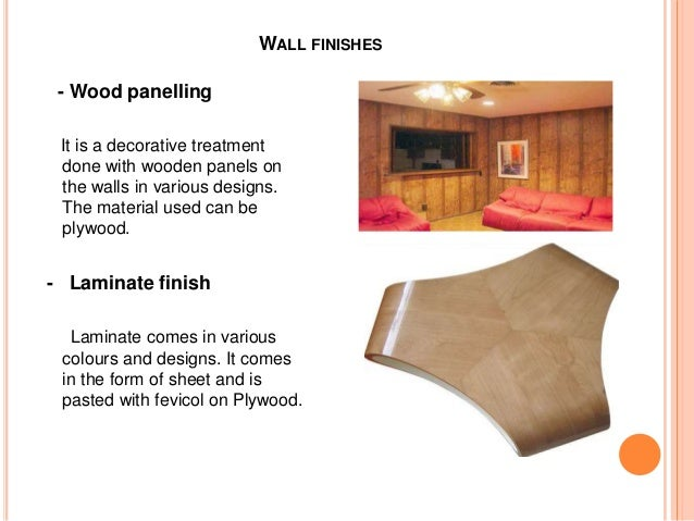 Ordinaire WALL FINISHES ...