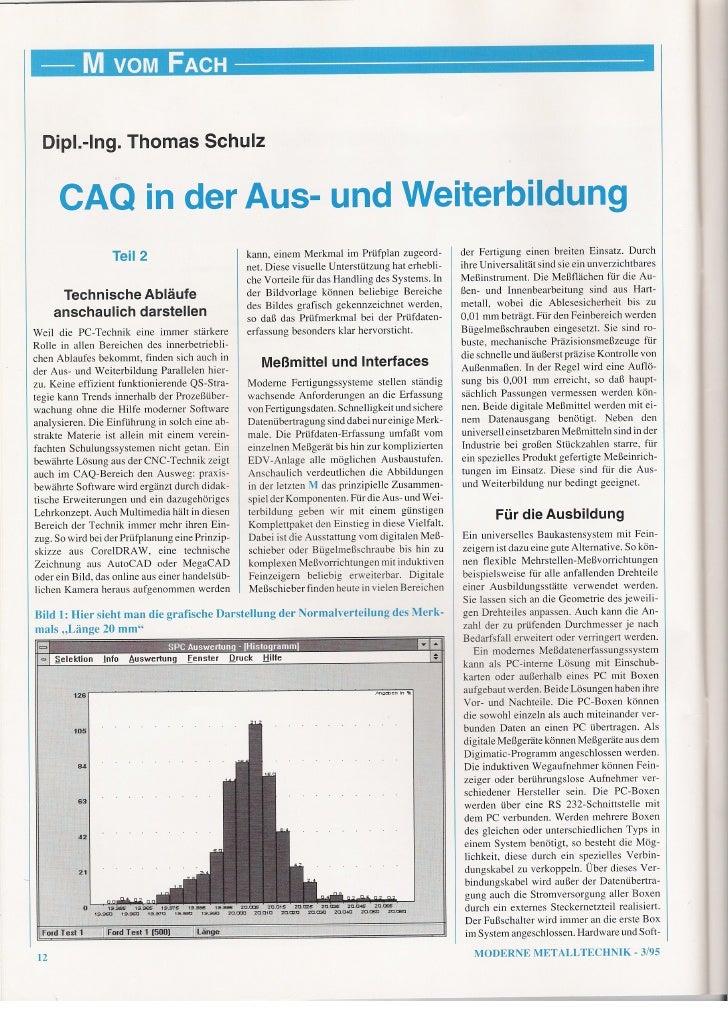 CAQ in der Aus- und Weiterbildung - Teil 2