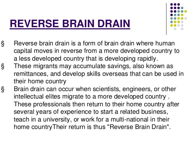reverse brain drain essay Essays on brain drain law day of papers on reverse brain drain essays of acid synthesis essay onlineapa essays on death to your brain drain essay.