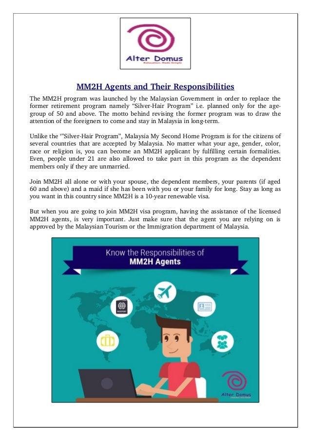 MM2HAgentsandTheirResponsibilities TheMM2HprogramwaslaunchedbytheMalaysianGovernmentinordertoreplacethe f...