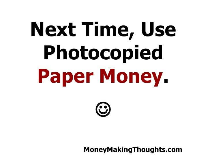 Money Making Visualization Practical Joke