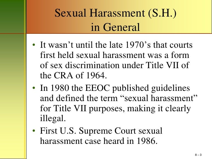 Title vii sexual harassment