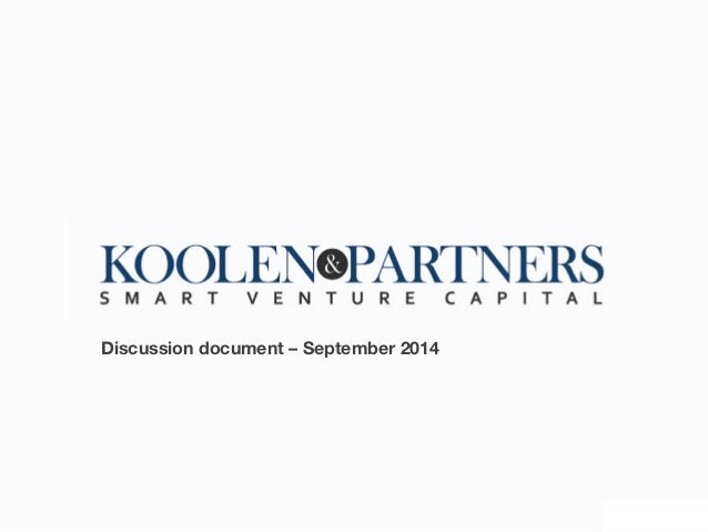 Confidential Discussion  Document  -‐     Discussion document – September 2014