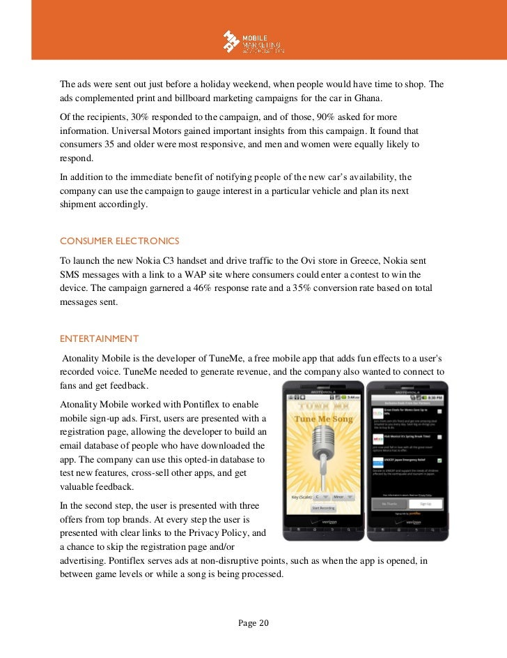 mobile marketing white paper Digital marketing whitepapers like we said, mostly white however rich in colorful content, graphics and digital marketing expertise we know the technology, laws and.