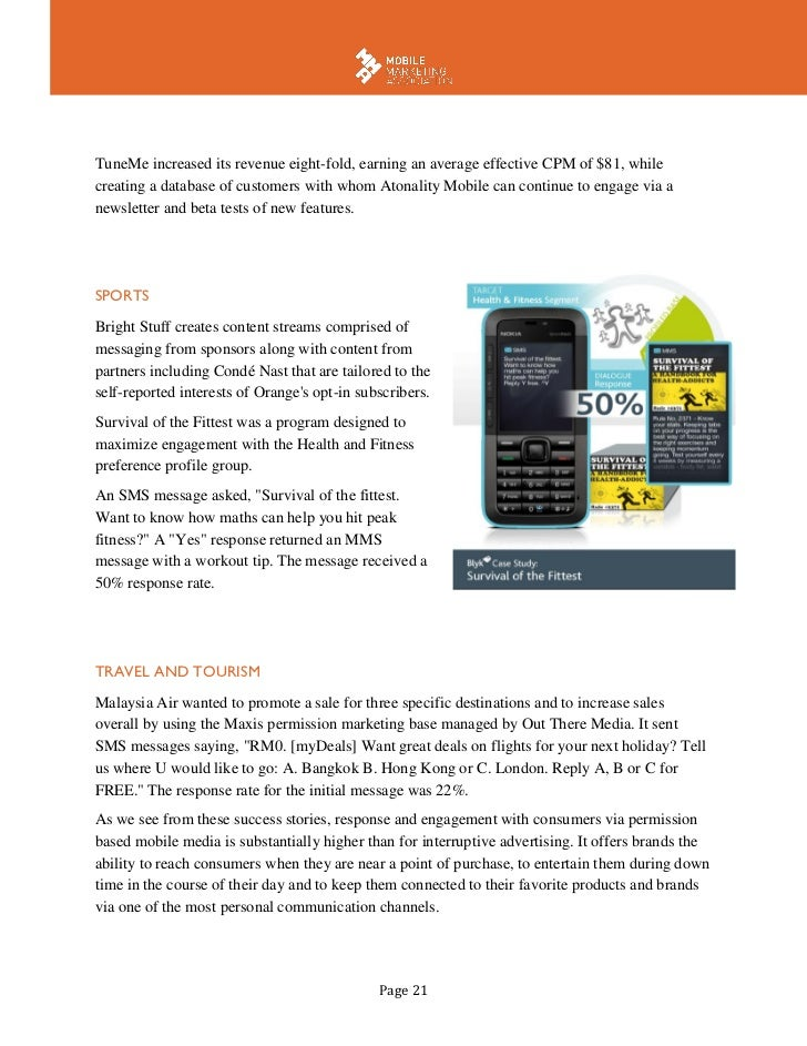 mobile marketing white paper Keep up with the latest marketing technology and best practices with adage insights and whitepapers.