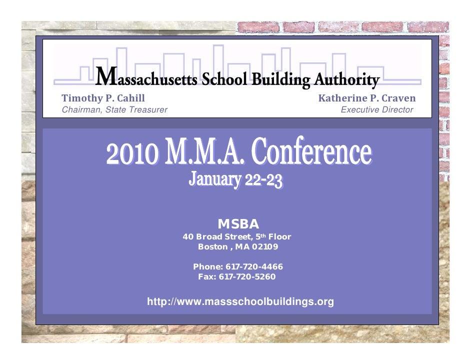 January 2010 MA Municipal Association Presentation