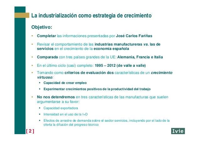 [ 2 ] La industrialización como estrategia de crecimiento Objetivo:  Completar las informaciones presentadas por José Car...