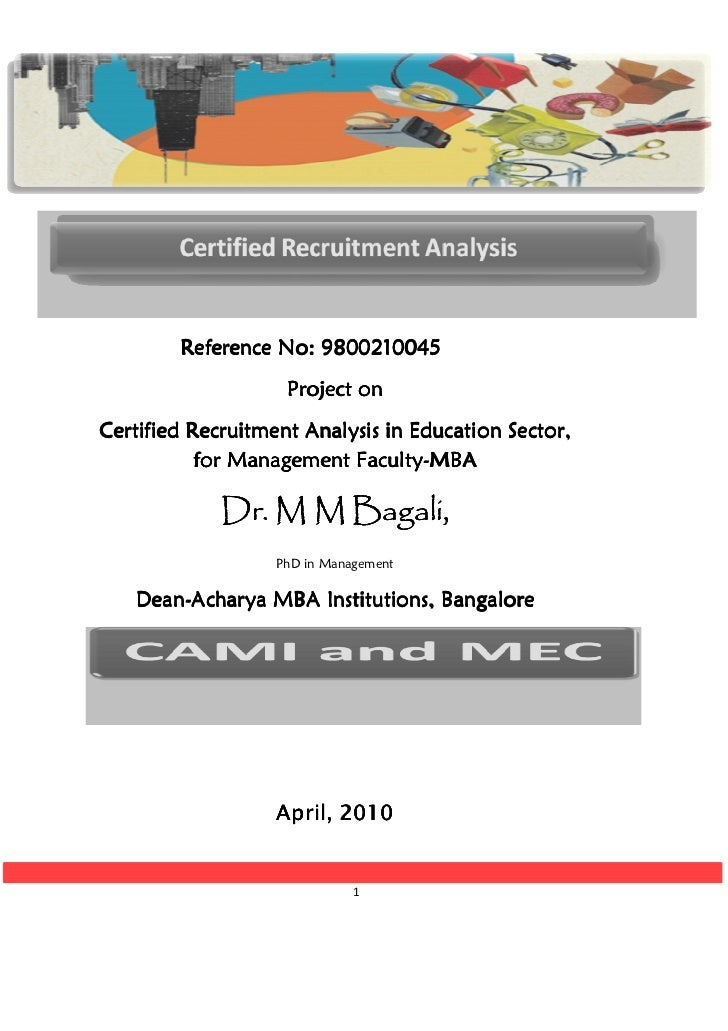 Reference No: 9800210045                    Project onCertified Recruitment Analysis in Education Sector,                 ...