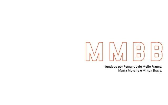 M M B Bfundado por Fernando de Mello Franco, Marta Moreira e Milton Braga.
