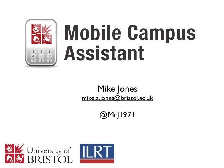 Mike Jonesmike.a.jones@bristol.ac.uk      @MrJ1971