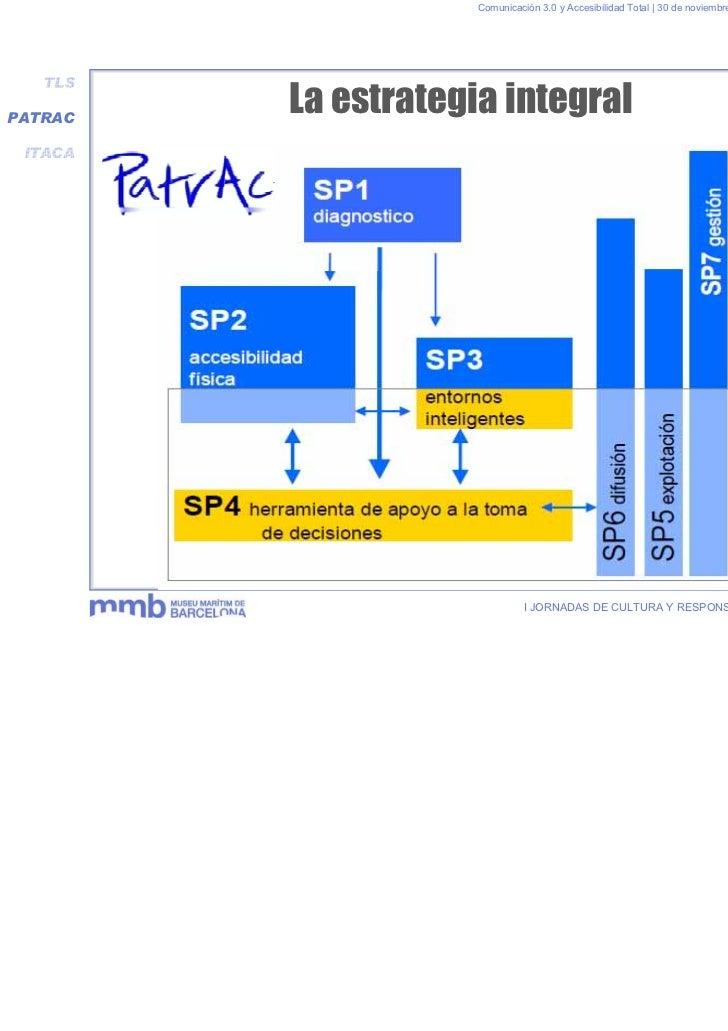 Comunicación 3.0 y Accesibilidad Total | 30 de noviembre y 1 de diciembre 2011   TLSPATRAC         La estrategia integral ...