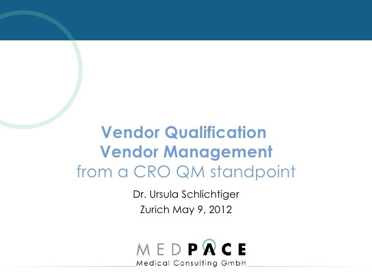 FOCUSED. TRUSTED. GLOBAL.                  Vendor Qualification                  Vendor Management               from a CR...