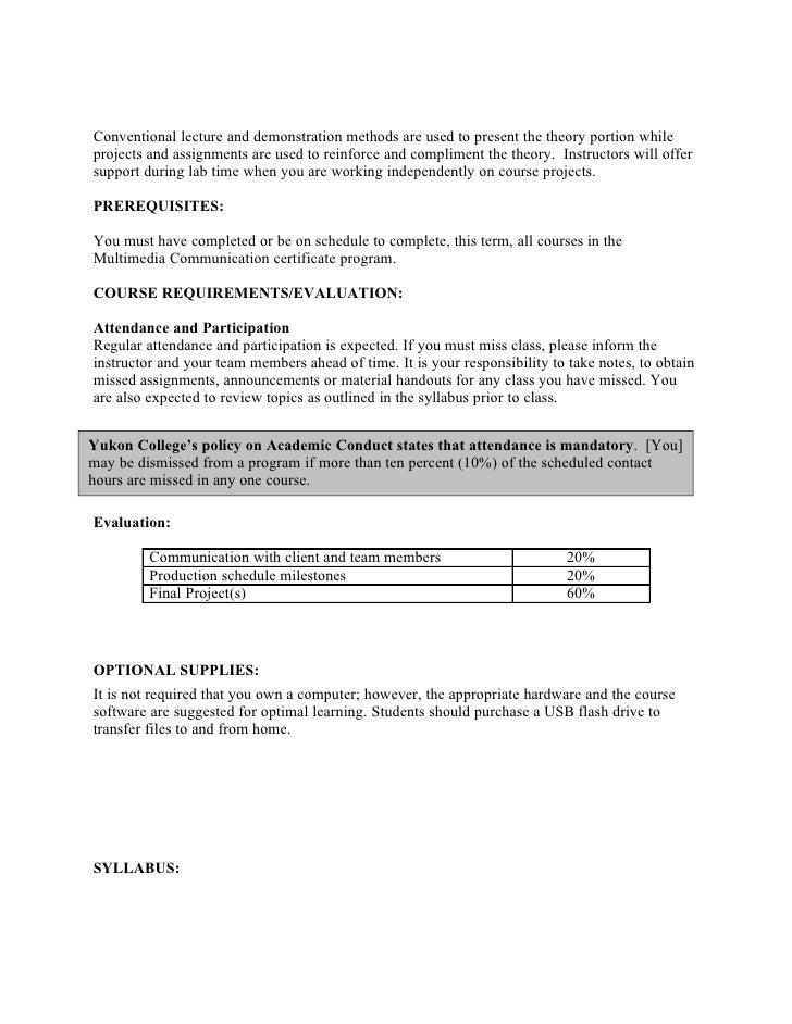 MMC124 Capstone Project Course Outline