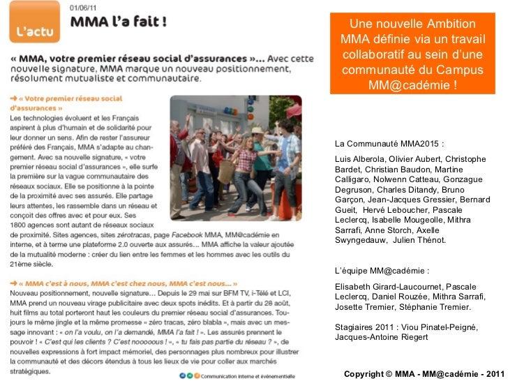 Une nouvelle Ambition MMA définie via un travail collaboratif au sein d'une communauté du Campus MM@cadémie ! La Communaut...