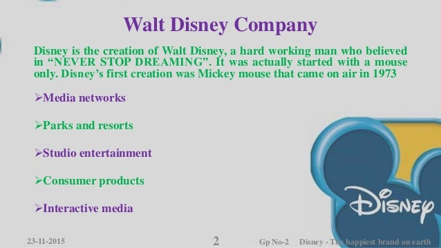 case study disney the happiest brand earth Disney princesses essay examples  disney—the happiest brand on earth in 2006, disney's pixar released the hit movie cars,  disney case page 627 a.