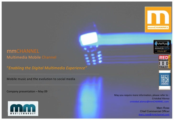 """mm CHANNEL   Multimedia Mobile  Channel """" Enabling the Digital Multimedia Experience"""" Mobile music and the evolution to so..."""