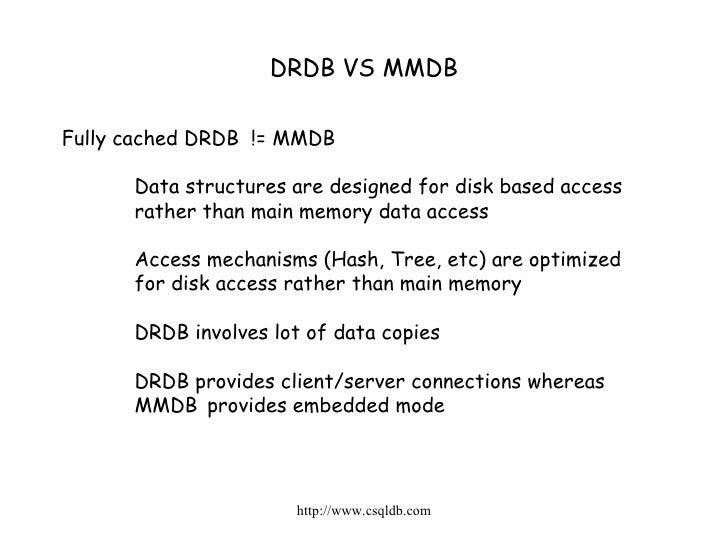 Main Memory Database