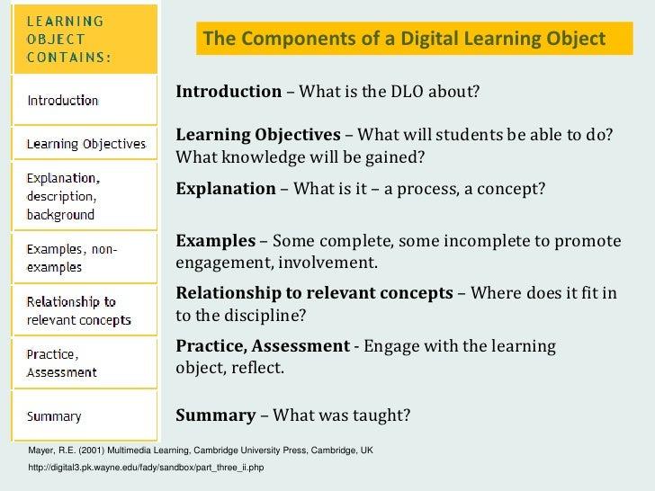 Creating a Multimedia Digital Learning Object in Powerpoint Slide 3