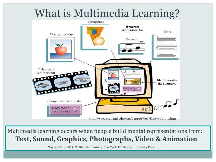 multimedia learning objects essay Understanding multimedia learning: integrating multimedia in the k-12 classroom multimedia offers exciting possibilities for meeting the needs of 21st century.