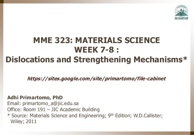 Engineering materials week 7