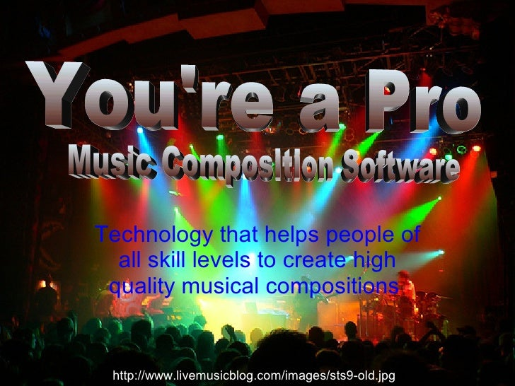 Technology that helps people of all skill levels to create high quality musical compositions   You're a Pro Music Composit...