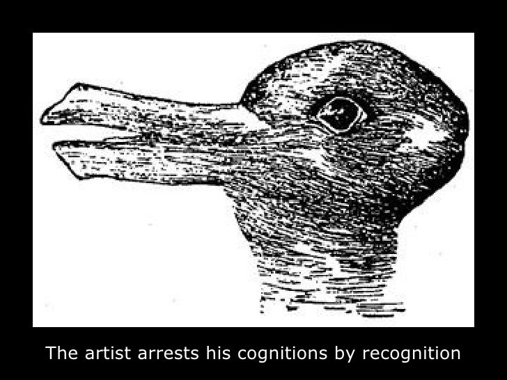 The artist arrests his cognitions by recognition