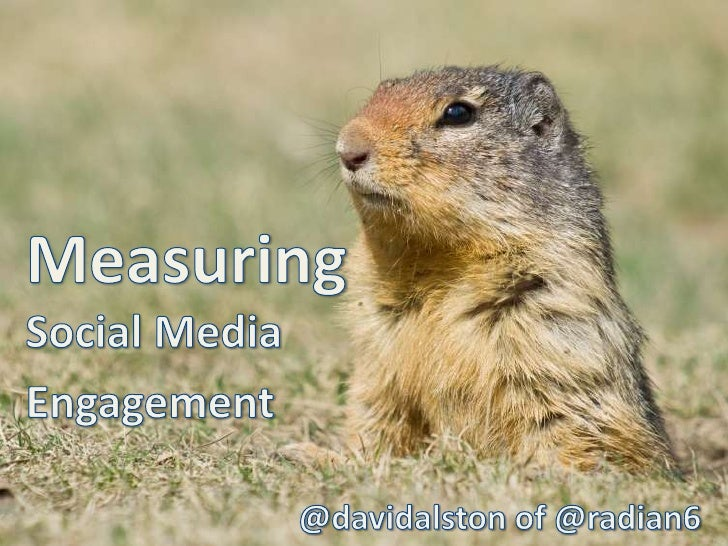 MeasuringSocial Media <br />Engagement<br />@davidalston of @radian6<br />